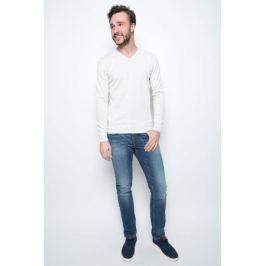 Пуловер мужской Tom Tailor, цвет: белый. 3022881.09.10. Размер S (46)