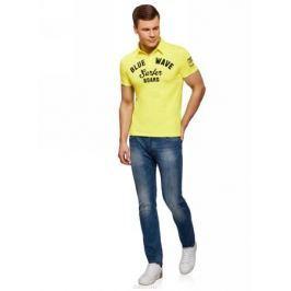 Поло мужское oodji Lab, цвет: желтый. 5L412261M/34149N/5279P. Размер XS (44)