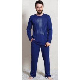 Домашний комплект мужской Vienetta's Secret Первый: брюки, кофта, цвет: темно-синий. 703003 0000. Размер M (46)