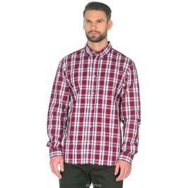 Рубашка мужская Baon, цвет: красный. B668019_Rubin Checked. Размер XL (42) Мужская одежда