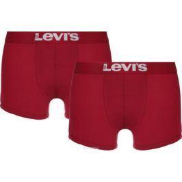 Трусы-боксеры мужские Levi's®, цвет: красный, 2 шт. 3715300010. Размер XL (52)