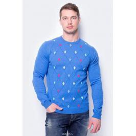 Джемпер мужской United Colors of Benetton, цвет: голубой. 1095K1F34_903. Размер L (50/52)