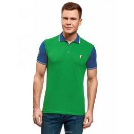 Поло мужское oodji Lab, цвет: зеленый. 5L412288M/46508N/6275B. Размер XL (56)