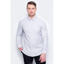 Рубашка муж United Colors of Benetton, цвет: серый. 5UW35QED8_903. Размер M (48/50)