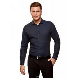 Рубашка мужская oodji Lab, цвет: темно-синий. 3L110281M/47382N/7929O. Размер 42 (52-182)