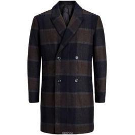 Пальто мужское Jack & Jones, цвет: темно-серый. 12127422_Dark Grey Melange. Размер XXL (54)