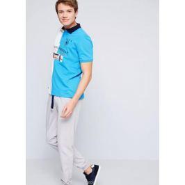 Поло мужское U.S. Polo Assn., цвет: голубой. G081SZ0110ELVIO. Размер XXS (44)
