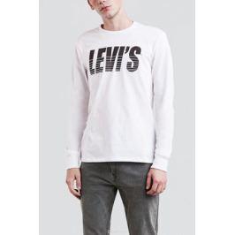 Футболка с длинным рукавом мужская Levi's®, цвет: белый. 3601500080. Размер XXL (54)