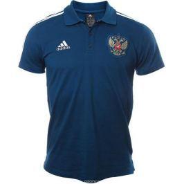 Поло мужское Adidas Rfu 3s Polo, цвет: синий. CF0573. Размер S (44/46)