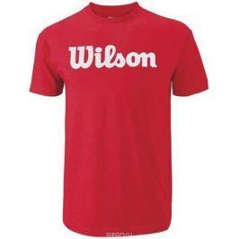 Футболка для тенниса мужская Wilson Script Cotton Tee, цвет: красный. WRA747808. Размер S (46)