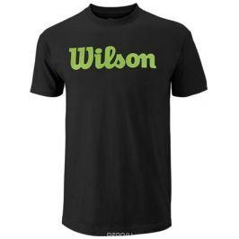 Футболка для тенниса мужская Wilson Script Cotton Tee, цвет: черный. WRA747810. Размер XXL (54)