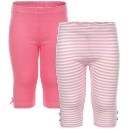 Леггинсы для девочки PlayToday Baby, цвет: розовый, белый, 2 шт. 168806. Размер 56