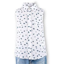 Блузка для девочки Button Blue Main, цвет: белый. 117BBGC22010207. Размер 98, 3 года