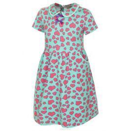Платье для девочки M&D, цвет: мятный, розовый, фиолетовый. SJD27057M87. Размер 98