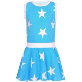 Платье для девочек КотМарКот, цвет: бирюзовый, белый. 21613. Размер 92