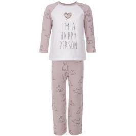 Пижама для девочки Button Blue, цвет: розовый. 217BBGU97011207. Размер 98, 3 года