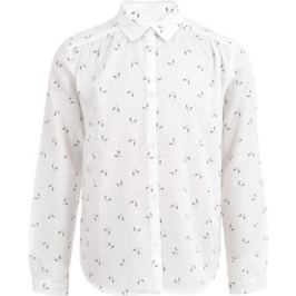 Блузка для девочки Button Blue, цвет: белый. 217BBGC22010207. Размер 116, 6 лет
