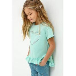 Блузка для девочки Acoola Nadezhda, цвет: голубой. 20220110115_400. Размер 116
