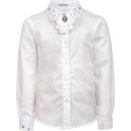 Блузка для девочки Nota Bene, цвет: белый. 181230802_01. Размер 164