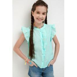 Блузка для девочки Acoola Tualang, цвет: бирюзовый. 20210270033_3100. Размер 164
