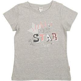 Футболка для девочки Frutto Rosso, цвет: светло-серый меланж. FRG72156 . Размер 152
