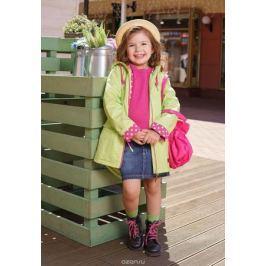Куртка для девочки Oldos Алана, цвет: салатовый. 3O8JK01. Размер 134, 9 лет