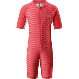 Купальный костюм детский Reima Galapagos, цвет: красный, розовый. 5262913342. Размер 140