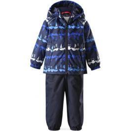 Комплект верхней одежды детский Reima Reimatec Naakeli: куртка, полукомбинезон, цвет: синий, темно-синий. 513115R6989. Размер 98