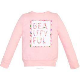 Свитшот для девочки Let's Go, цвет: светло-розовый. 6148. Размер 128