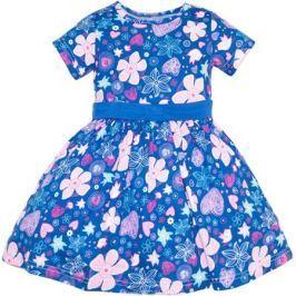 Платье для девочки Let's Go, цвет: темно-синий. 8129. Размер 92