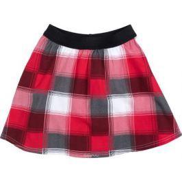 Юбка для девочки PlayToday, цвет: красный, черный, белый. 182011. Размер 146/152