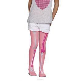 Колготки для девочки Penti Bones, цвет: розовый неон. m0c0327-0193 PNT_156. Размер 4 (128/138)