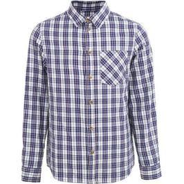 Рубашка для мальчика Button Blue, цвет: синий, белый. 217BBBC23011002. Размер 122, 7 лет