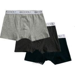 Трусы для мальчиков S'cool, цвет: темно-синий, темно-серый, серый, 3 шт. 383454. Размер 122/128