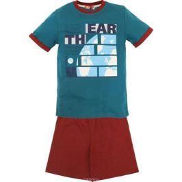 Пижама для мальчика Let's Go, цвет: изумрудный. 9244. Размер 158