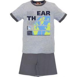 Пижама для мальчика Let's Go, цвет: серый меланж. 9244. Размер 158