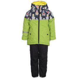 Комплект верхней одежды для мальчика Boom!: куртка, брюки, цвет: салатовый. 80048_BOB. Размер 98