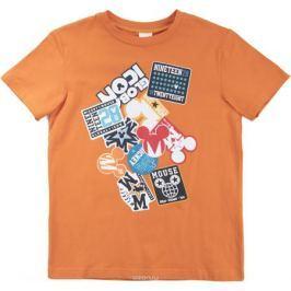 Футболка для мальчика PlayToday Sport, цвет: оранжевый. 680001. Размер 134/140