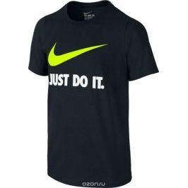 Футболка для мальчика Nike Jdi Swoosh Crew, цвет: черный. 709952-010. Размер XL (158/170)