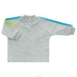 Кофточка детская Lucky Child, цвет: серый, голубой. 1-16. Размер 80/86
