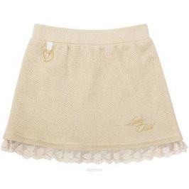 Юбка для девочки Lucky Child Маленькая леди, цвет: молочный, золотой. 53-351. Размер 86/92