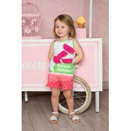 Шорты для девочки Sweet Berry Baby, цвет: красный, зеленый. 712096. Размер 86