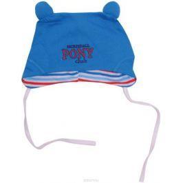 Шапочка для мальчика СовенокЯ Пони клуб, цвет: голубой. 3-593. Размер 48
