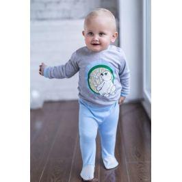 Ползунки для мальчика Мамуляндия Мультяшки-Мальчики, цвет: голубой. 17-705. Размер 68