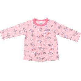 Распашонка для девочки Cherubino, цвет: персиковый. CWN 6972. Размер 80