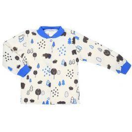 Кофточка для мальчика КотМарКот, цвет: белый, голубой. 7618. Размер 86