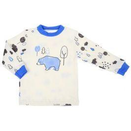Кофточка для мальчика КотМарКот, цвет: белый, голубой. 7918. Размер 92
