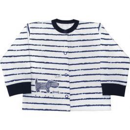 Кофточка для мальчика Веселый малыш Верные друзья, цвет: белый, темно-синий. 24322/вд-F (1). Размер 86