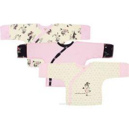 Распашонка детская Lucky Child, цвет: светло-бежевый, розовый, 3шт. 30-197. Размер 50/56