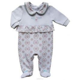 Комбинезон домашний для девочки Soni Kids Романтика, цвет: белый. З6102007. Размер 74